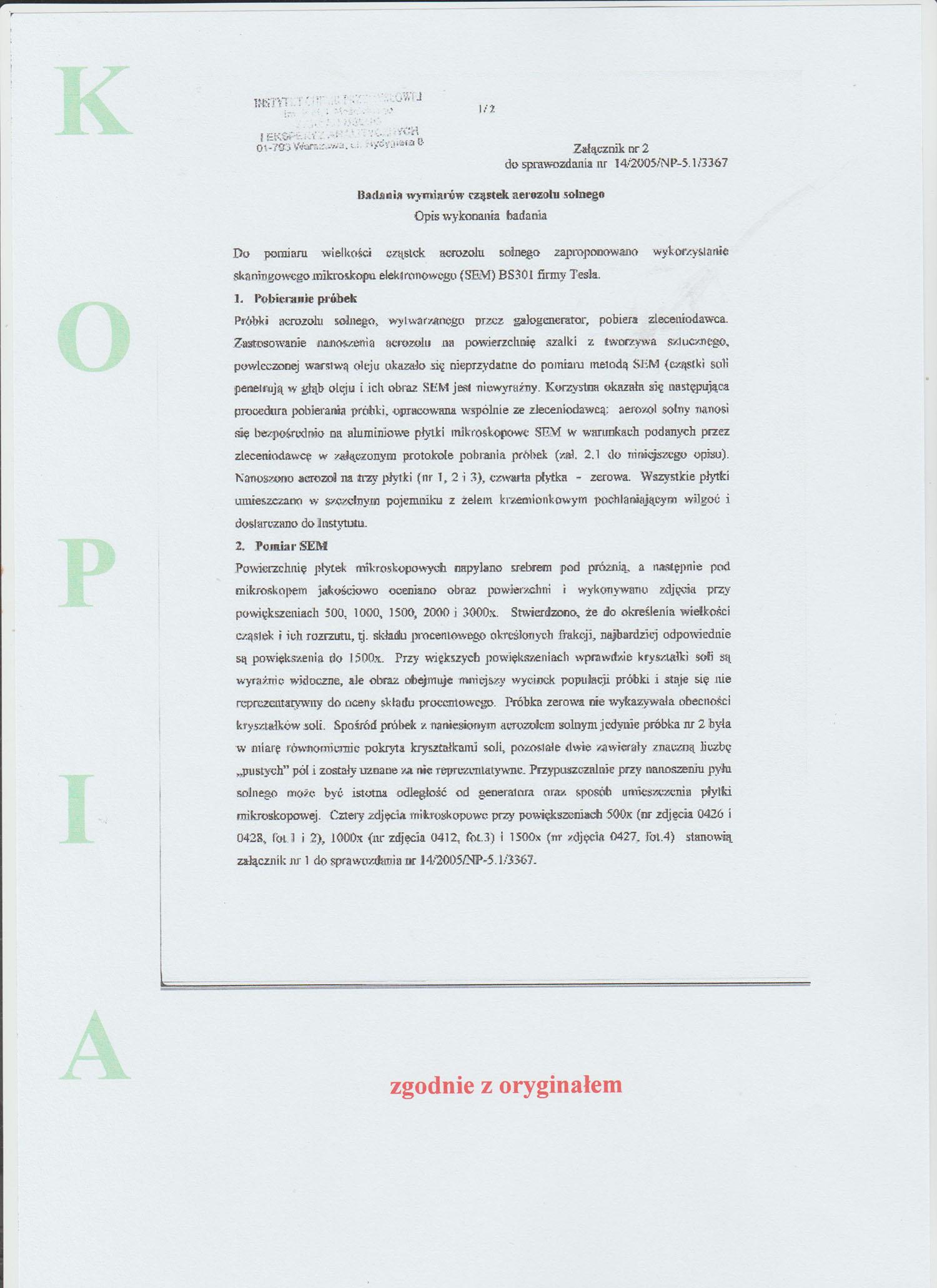 Certyfikat halogenerator