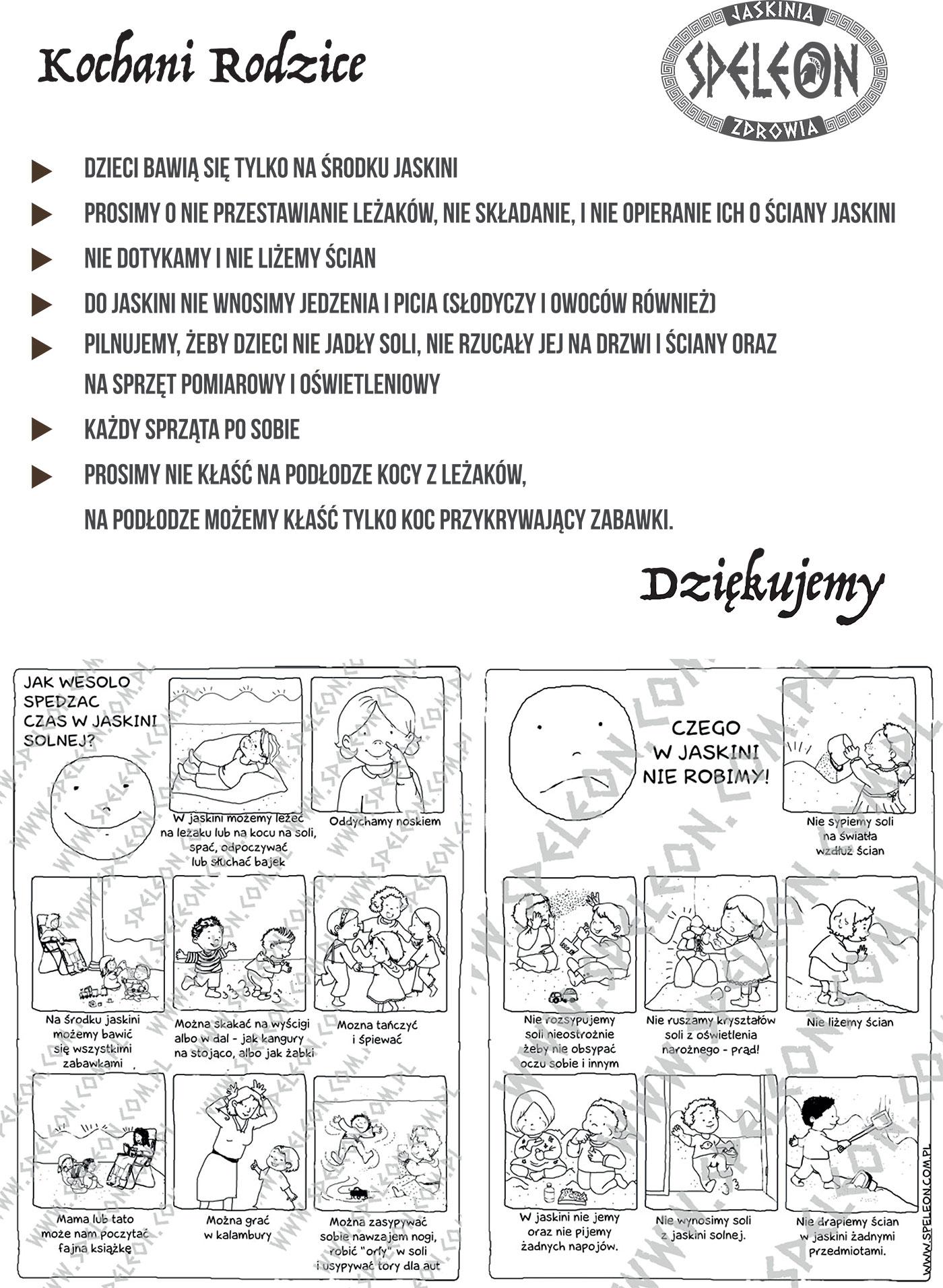 Regulamin dla dzieci
